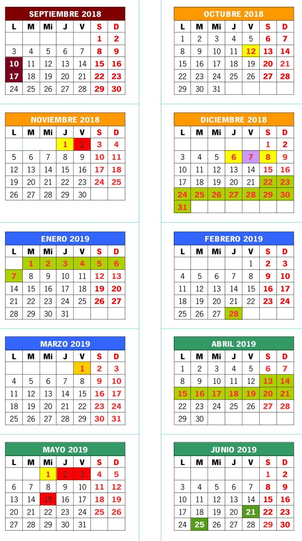 Calendario Escolar Europa 2019.Calendario Escolar Ies Juan Lopez Morillas
